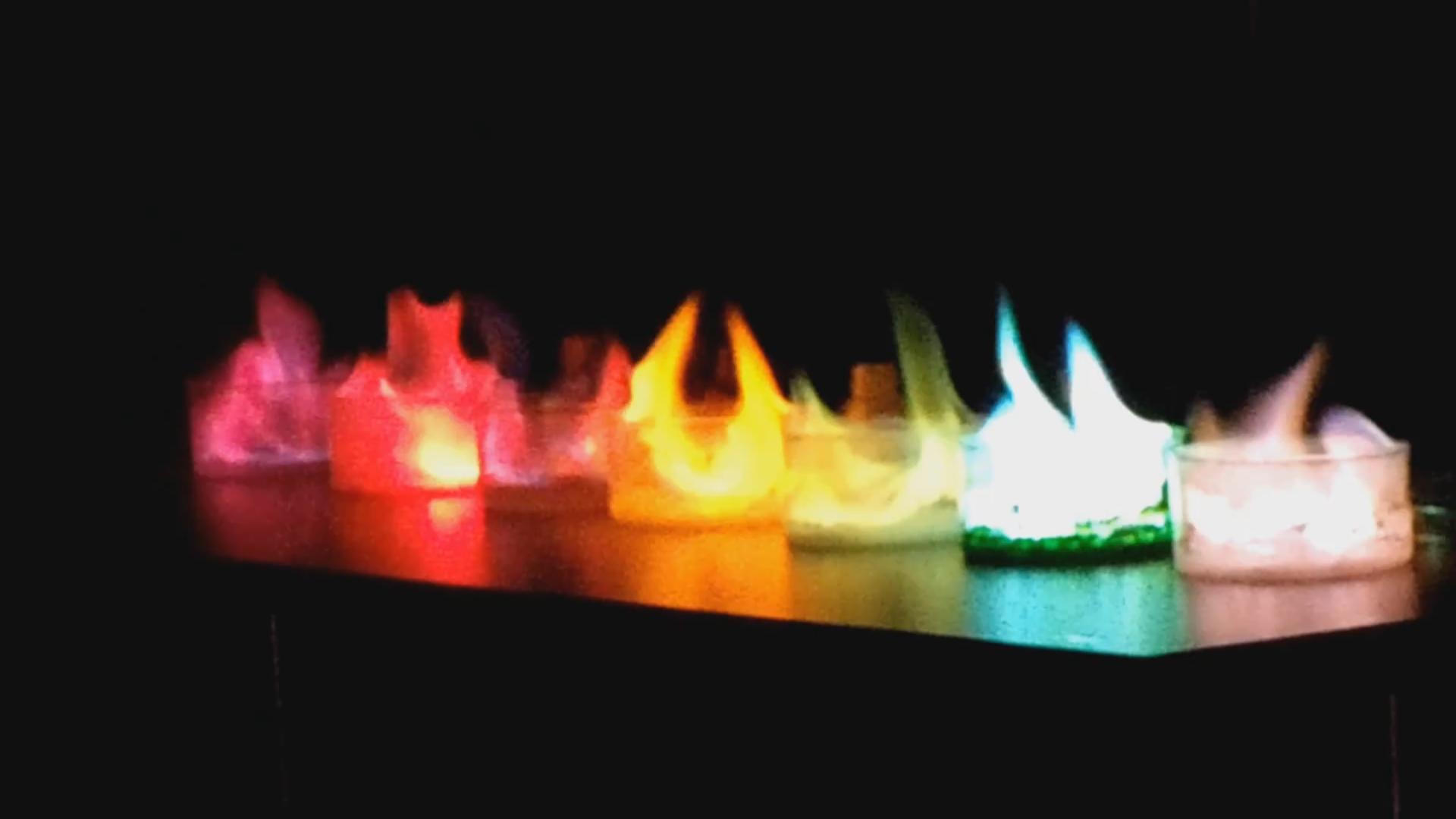 Como hacer fuego de colores